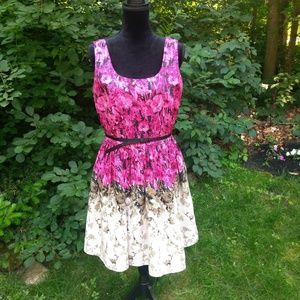 Julian Taylor dress size 10 pink white floral